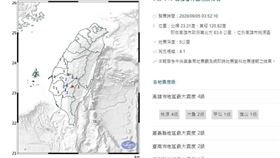 高雄,中央氣象局地震報告,地震報告,中央氣象局,地震