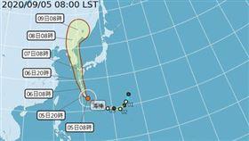 海神颱風天增強為今年西北太平洋第一個強烈颱風。(圖/取自氣象局網站)