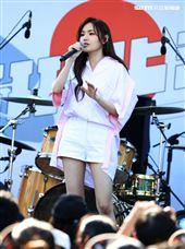 文慧如臺北流行音樂中心「嗨!北流」開幕演唱會戶外場。(記者邱榮吉/攝影)