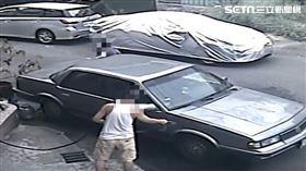 男偷別人家門前水洗車/雷先生授權提供