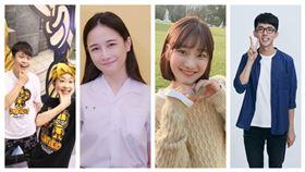 Z世代男女心中最愛的20名網紅會是誰呢。(組合圖/翻攝臉書)