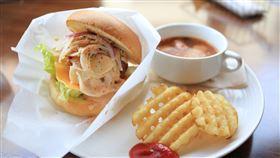 漢堡,早餐,早午餐。(示意圖/pixabay)