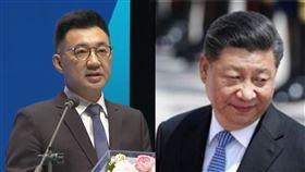 江啟臣,習近平,國共 (組合圖)