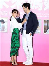 李至正、張寗出席三立週五華劇「未來媽媽」記者會。(記者邱榮吉/攝影)