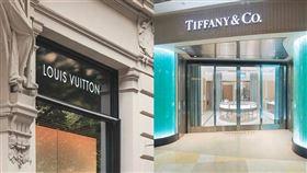 LV。(圖/翻攝自unsplash) Tiffany & Co.(圖/翻攝自Tiffany & Co.官網)