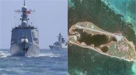 解放軍東部戰區,東沙群島(組合圖)