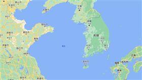 黃海。(圖/翻攝自google map)