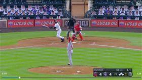 ▲天使投手奎哈達(Jose Quijada)慘挨再見轟。(圖/翻攝自MLB官網)