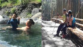 武界壩,閘門,露營,南投,新竹天湖,心形公路(左為賴男一家、右為盧男一家) 翻攝臉書