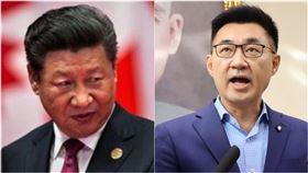 中國領導人習近平、國民黨主席江啟臣(組合圖/資料照、翻攝臉書)