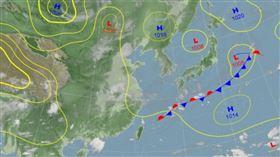 0915地面天氣圖(圖/氣象局)