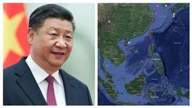 習近平、China航天公佈的軌跡圖中,確實會經過台灣上空。(圖/翻攝自China航天微博)