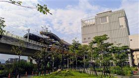 台中捷運可望年底通車,與台鐵交會的站點房價表現亮眼,圖為雙鐵會合的松竹站(圖/台灣房屋提供)