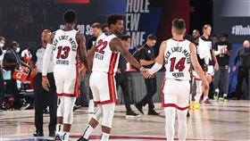 NBA/士官長關鍵三分打 熱火險勝 NBA,季後賽,邁阿密熱火,Jimmy Butler,士官長,波士頓塞爾提克,Jayson Tatum 翻攝自NBA官方推特