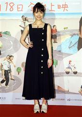 演員黑嘉嘉出席電影「消失的情人節」首映會。(記者邱榮吉/攝影)