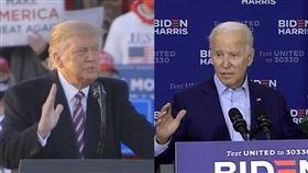 美國明尼蘇達、維吉尼亞、南達科他及懷俄明4州18日開始提前投票,兩位候選人川普(左)和拜登雙雙在明尼蘇達州造勢拚人氣。(左圖取自facebook.com/DonaldTrump;右圖取自facebook.com/joebiden)