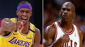 NBA/超越喬丹!軟豆用助攻寫歷史 NAB,季後賽,洛杉磯湖人,Rajon Rondo,助攻,Michael Jordan 翻攝自推特