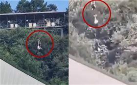 中國大陸,女員工搭乘「高空滑索」墜落慘死(圖/翻攝自微博)