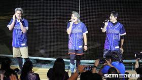 ▲5566在富邦悍將G-POP主題日賽後開唱。(圖/記者劉彥池攝影)