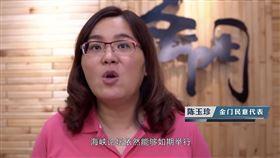 國民黨立委陳玉珍。(圖/翻攝自今日海峽YouTube)