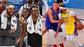 NBA/麥基、魔獸「垃圾話」立功 NBA,季後賽,洛杉磯湖人,Anthony Davis,Dwight Howard,JaVale McGee,丹佛金塊,Nikola Jokic 翻攝自推特