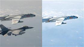 陸媒報「共機飛中線」…偷P圖被抓包:台軍機秒變隱形戰機