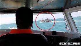 中國籍油船越界、第三海巡隊副隊長林大靖/翻攝畫面