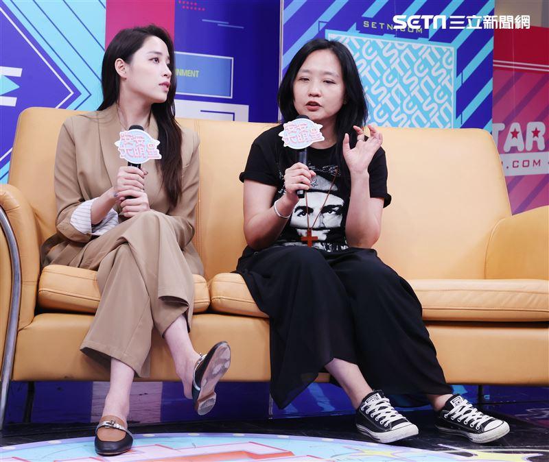 歐陽妮妮、導演謝禮如安安大明星(戲劇宣傳) 。(記者邱榮吉/攝影)
