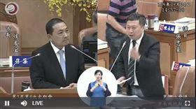 侯友宜,張志豪(圖/新北市議會直播)