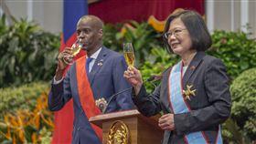 蔡英文、海地總統摩依士(圖/總統府提供)