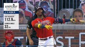 ▲勇士亞古納(Ronald Acuna Jr.)敲出大聯盟本季最遠1轟。(圖/翻攝自MLB官網)
