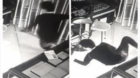 中國,湖南,珠寶店,搶劫,竊賊,空中飛人(圖/翻攝自梨視頻)