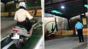 她機車路考…暴衝撞牆「人倒立飛出」!考官當場看傻,圖/翻攝自台灣新聞記者聯盟資訊平台