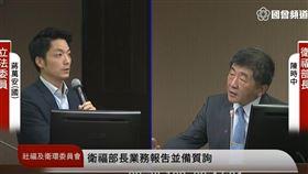 陳時中,蔣萬安,美豬,2022,台北市長,衛環委員會,立法院 圖/翻攝自立法院議事轉播