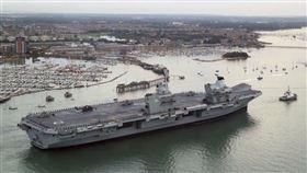 英國航母艦,海軍航空母艦「伊麗莎白女王號」(HMS Queen Elizabeth R08)(圖/王定宇臉書)