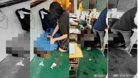 才PO殺人預告…高中生刺死2女同學(圖/翻攝自微博)