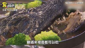 ▼▲第三道是鱷魚料理。(圖/紅逗 Redou 授權)