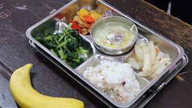 營養午餐示意圖(農糧署提供)