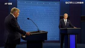 美國總統大選進入最後倒數,首場電視辯論在台灣時間今(30)日上午9時登場。(圖/AP授權)