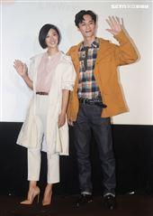 桂綸鎂、李英宏出席品牌服飾十周年慶。(記者邱榮吉/攝影)