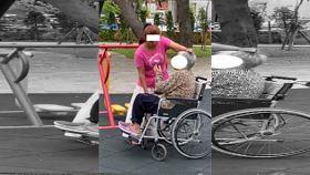 新北市,外籍看護,輪椅奶奶,暴力,抓下體