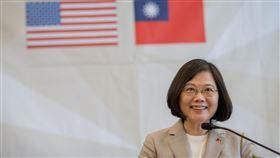 蔡英文、台灣、中華民國、美國、國旗(圖/總統府提供)