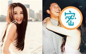 ▲溫碧霞曬出20年前和老公的結婚照。(圖/翻攝自微博)