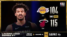 NBA/士官長40分大三元 熱火勝 NBA,季後賽,邁阿密熱火,Jimmy Butler,士官長,洛杉磯湖人 翻攝自NBA官方推特