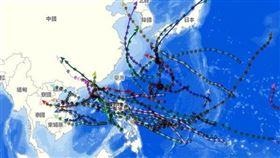 台灣每到夏天7、8月,最怕的就是颱風襲台,但2020年卻是猶如穿上「金鐘罩」一般,即使有颱風生成,也是巧妙地繞過台灣。(圖/翻攝自氣象局)