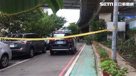 萬華環河南路橋下發生砍人事件,警方採證中。(圖/翻攝畫面)