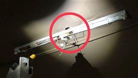 台中水電工換燈管觸電亡 原因現場曝(圖/翻攝畫面)