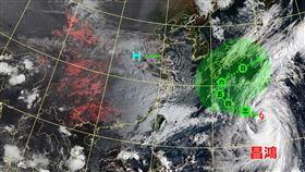 第14號颱風「昌鴻」(Chan-hom)持續增強中,氣象局表示可能在明後兩天就會增強為中度颱風。(圖/翻攝自「台灣颱風論壇 天氣特急」)
