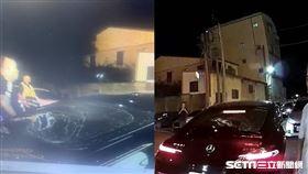 台中男砸賓士車證明自己車多/翻攝畫面