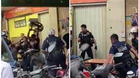 北市盧男酒後吃早餐時,與鄰座2名酒客互毆遭逮。(圖/翻攝臉書社團《爆料公社》)